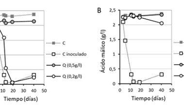 Empleo de ácido fumárico y quitosano para inhibir la fermentación maloláctica